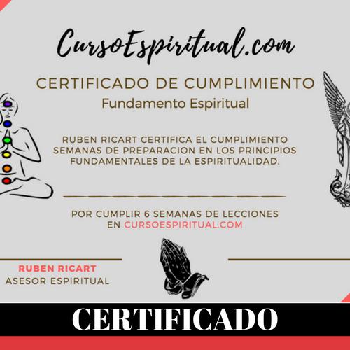 curso espiritual - certifiado -image